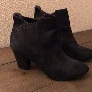 Bcbg black suede booties